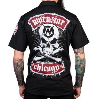 Férfi ing WORNSTAR - Chicago Skull - Fekete, WORNSTAR
