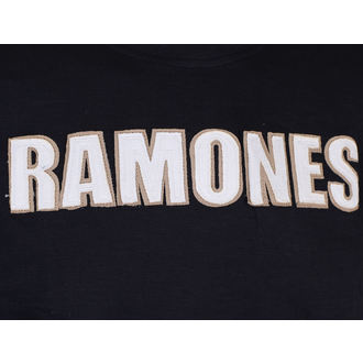metál póló férfi Ramones - Logo & Seal Applique Slub - ROCK OFF, ROCK OFF, Ramones