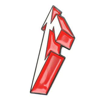 Metallica kitűző - 3D M, Metallica