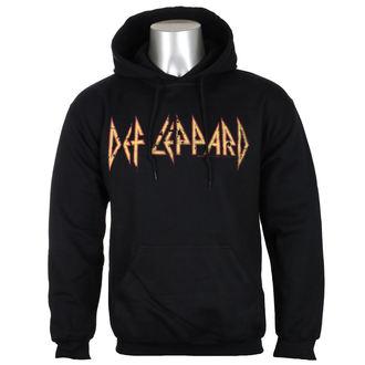 Def Leppard férfi kapucnis pulóver- Distressed Logo - Fekete - HYBRIS, HYBRIS, Def Leppard