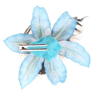 Koponya mintájú Haj Csipesz - Flower - turquise