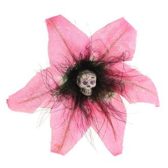 Koponya mintájú Haj Csipesz - Flower - Rózsaszín, NNM