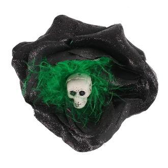 Koponya mintájú Haj Csipesz - Fekete / Zöld Tollak, NNM