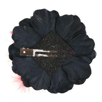 Koponya mintájú Haj Csipesz - Fekete / Piros Íj, NNM