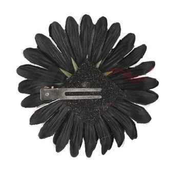 Koponya mintájú Haj Csipesz - Fekete / Rózsaszín Íj, NNM