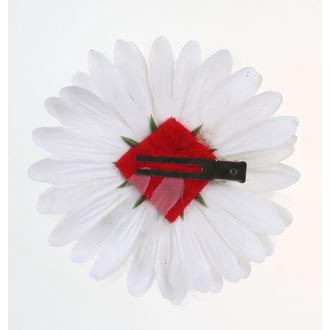 Koponya mintájú Haj Csipesz - fehér / Piros, NNM