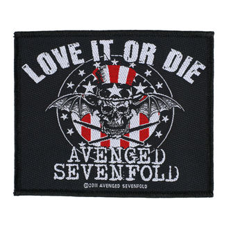 AVENGED SEVENFOLD Felvarró - LOVE IT OR DIE - RAZAMATAZ, RAZAMATAZ, Avenged Sevenfold