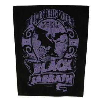 BLACK SABBATH Nagy méretű felvarró - LORD OF THIS WORLD - RAZAMATAZ, RAZAMATAZ, Black Sabbath