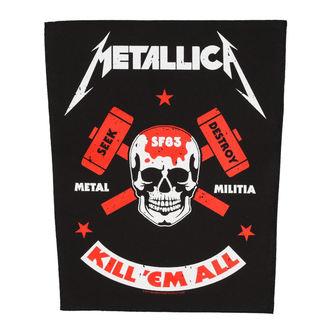 METALLICA Nagy méretű felvarró - METAL MILITIA - RAZAMATAZ, RAZAMATAZ, Metallica