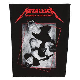 METALLICA Nagy méretű Felvarró - HARDWIRED CONCRETE - RAZAMATAZ, RAZAMATAZ, Metallica
