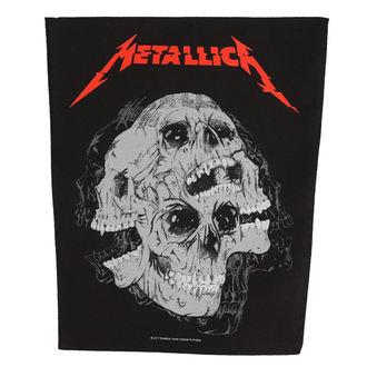 METALLICA Nagy méretű Felvarró - SKULLS - RAZAMATAZ, RAZAMATAZ, Metallica