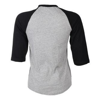 tričko dámské s 3/4 rukávem BLACK HEART - BH DEVIL ROSE - GREY, BLACK HEART
