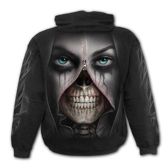 kapucnis pulóver férfi - ZIPPED - SPIRAL, SPIRAL