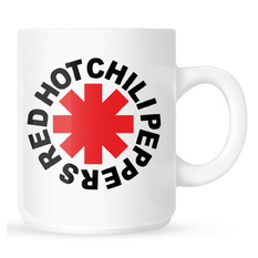 Red Hot Chili Peppers Bögre - Original Logo Astrisk - fehér, NNM, Red Hot Chili Peppers