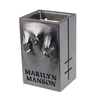 MARILYN MANSON Gyertya - BLACK METALLIC - PLASTIC HEAD, PLASTIC HEAD, Marilyn Manson