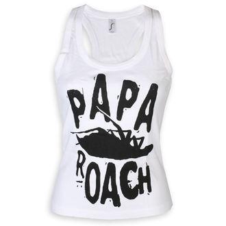 Papa Roach Női felső - Classic Logo - fehér - KINGS ROAD, KINGS ROAD, Papa Roach