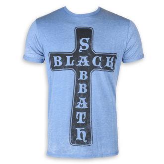metál póló férfi Black Sabbath - Burnout Mid Blue - ROCK OFF, ROCK OFF, Black Sabbath