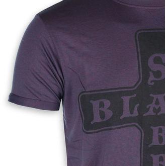 metál póló férfi Black Sabbath - Burnout Navy/Red - ROCK OFF, ROCK OFF, Black Sabbath