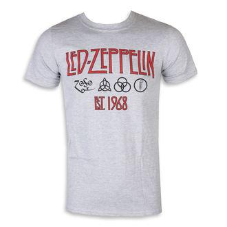 Led Zeppelin Férfi póló - szimbólumok  Est  68 Sport szürke, NNM, Led Zeppelin