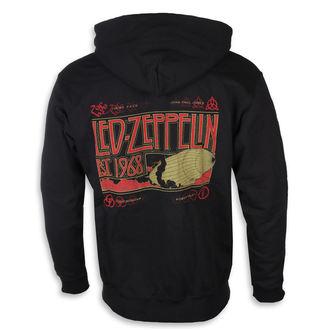 kapucnis pulóver férfi Led Zeppelin - Zeppelin & Smoke Black - NNM, NNM, Led Zeppelin