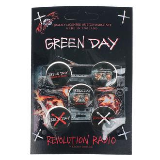 Green Day Kitűzők - Revolution Radio - RAZAMATAZ, RAZAMATAZ, Green Day