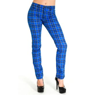 3RDAND56th férfi nadrág - Tartán Skinny Jeans - Kék / Tartan, 3RDAND56th