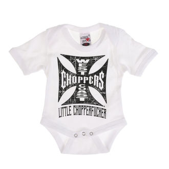 Gyermek ruha WEST COAST CHOPPERS - ONESIE LITTLE CHOPPERFUCKER BABY CREEPER - fehér, West Coast Choppers