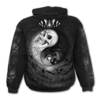 kapucnis pulóver férfi - YIN YANG SKULLS - SPIRAL - M029M451