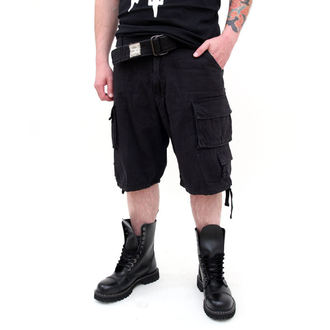 rövidnadrág SURPLUS - DIVISION SHORT - BLACK, SURPLUS
