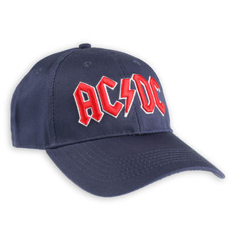 AC  /  DC Sapka - Red Logo Navy - ROCK OFF, ROCK OFF, AC-DC