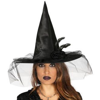 Halloweeni Boszorkány Kalap FEKETE BOSZORKÁNY VIRÁG