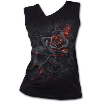 SPIRAL Női felső - BURNT ROSE - Fekete, SPIRAL