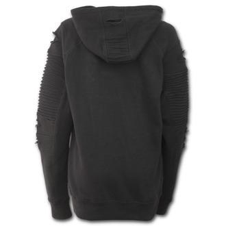 kapucnis pulóver női - BURNT ROSE - SPIRAL, SPIRAL