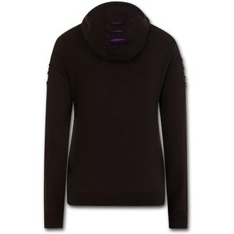 kapucnis pulóver női - WOLF ROSES - SPIRAL, SPIRAL