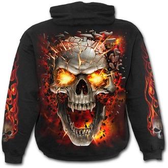 kapucnis pulóver férfi - SKULL BLAST - SPIRAL, SPIRAL