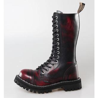 bőr csizma női - - STEEL - 135/136 Red black