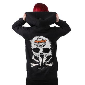 kapucnis pulóver női - Black - METALSHOP, METALSHOP