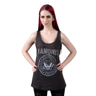 RAMONES női felső - LOGO DIAMANTE SILVER - FASZÉN - AMPLIFIED, AMPLIFIED, Ramones