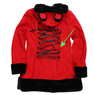 kabát női BANNED - Red - YBN1905 - SÉRÜLT, BANNED