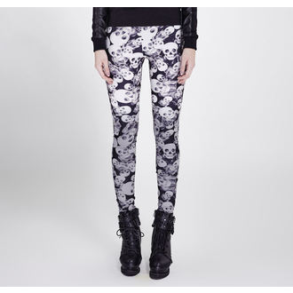 PUNK RAVE Női nadrág (leggings) - Skulls, PUNK RAVE
