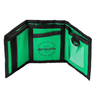 MEATFLY Pénztárca - HARPOON - A - 1/26/55 - Fekete Zöld, MEATFLY