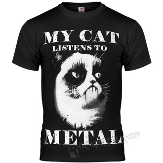 hardcore póló férfi - MY CAT LISTENS TO METAL - AMENOMEN, AMENOMEN