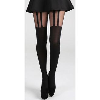 Harisnyanadrág PAMELA MANN -  2 Stripe Suspender - Black, PAMELA MANN