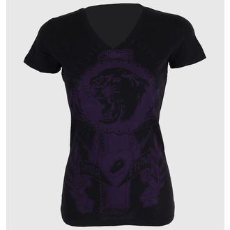 utcai póló női - Tiger Cross One color V-neck - SOMETHING SACRED - V-neck, SOMETHING SACRED