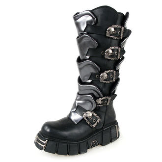 bőr csizma - Gladiator Boots (738-S1) Black-Grey - NEW ROCK, NEW ROCK