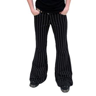 nadrág női Mode Wichtig - Flares Pin Stripe Black-White, MODE WICHTIG