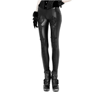 PUNK RAVE Női nadrág (leggings) - Black Soiree Gothic, PUNK RAVE
