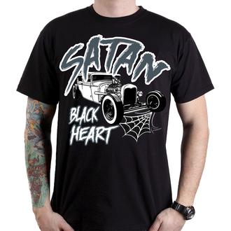 utcai póló férfi - SATAN - BLACK HEART, BLACK HEART