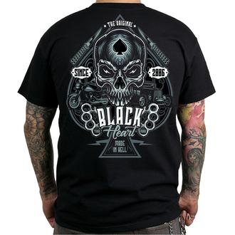utcai póló férfi - HOT ROD KNUCKLE - BLACK HEART, BLACK HEART