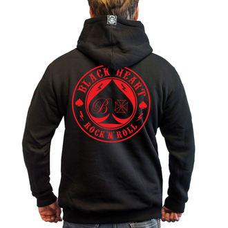 kapucnis pulóver férfi - ACE OF SPADES - BLACK HEART, BLACK HEART